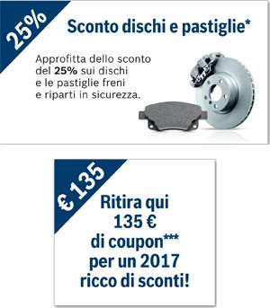 pastiglie dischi coupon 2016 - 2017